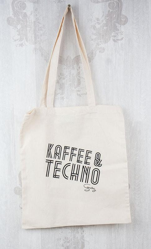 Baumwolltasche Bio Kaffee & Techno